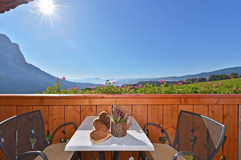 Ferienwohnung Anemone Balkon