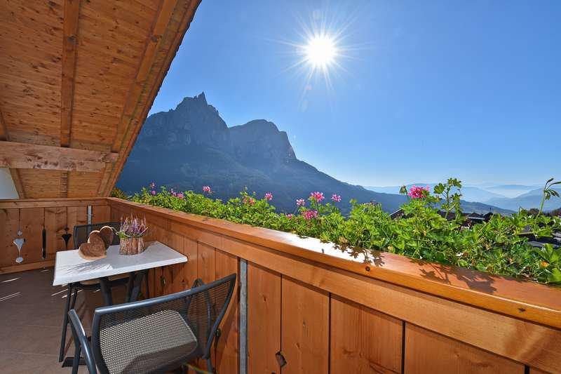 Ferienwohnung Nelke Balkon
