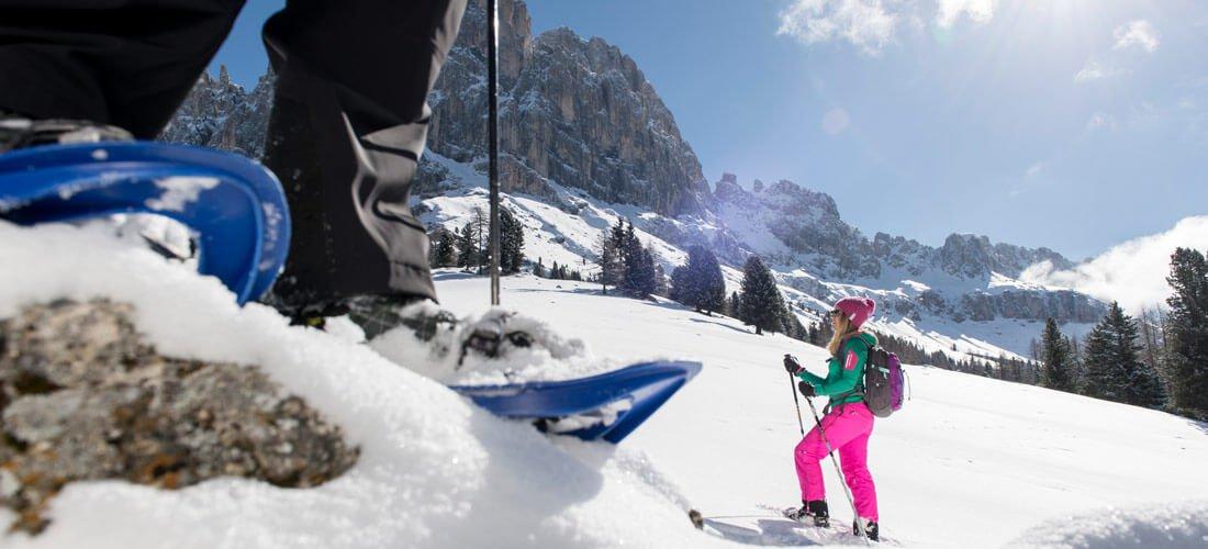 Escursioni con racchette da neve e invernali nelle Dolomiti
